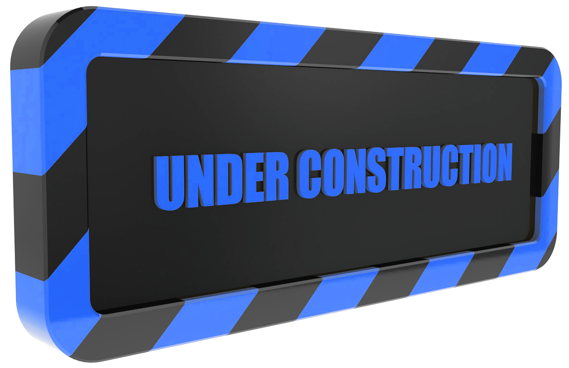 under construction blue